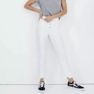 NEW Madewell 29 Perfect Vintage Crop Jeans White